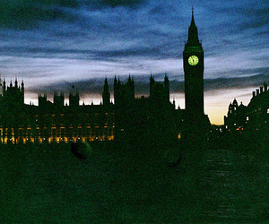 london, night, and Big Ben image