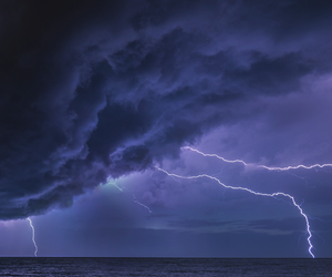 storm, beach, and purple image
