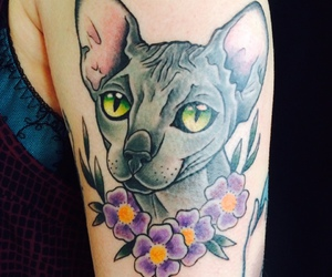 cats, Tattoos, and cat lovers image