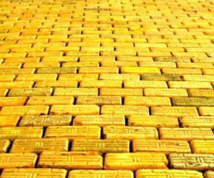brick, road, and yellow image