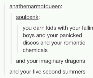 bands, my chemical romance, and fall out boy image