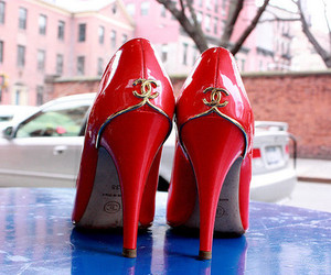 chanel, shoes, and red image