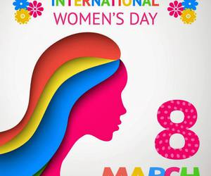 colorful, international women's day, and rainbow image