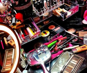 lip gloss, makeup storage, and makeup collections image