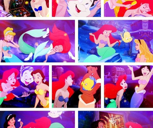 ariel, jasmine, and the little mermaid image
