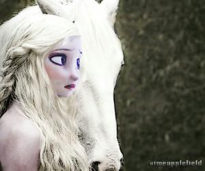 frozen, daenerys targaryen, and crossover image