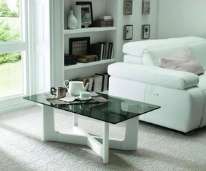 modern table, glass coffee table, and italian tinted table image