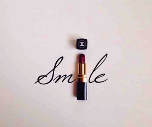 chanel, lipstick, and smile image