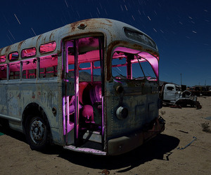 abandoned, bus, and junk yard image