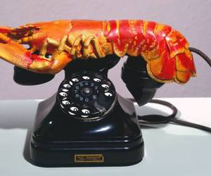 salvador dali, lobster, and telephone image