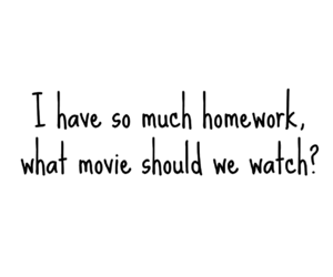 movie and homework image