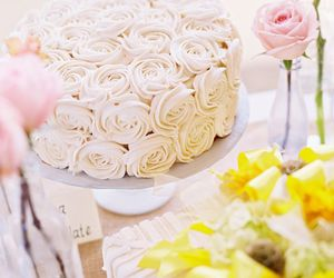 beautiful, bridal, and cake image