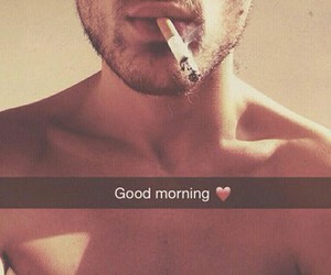 cigarette, good morning, and handsome image
