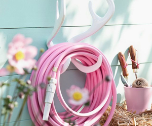 pink, garden, and pastel image