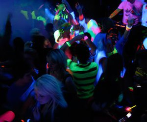 color, glow paint, and party supplies image