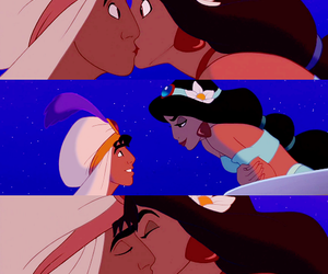 aladin, jasmine, and kiss image