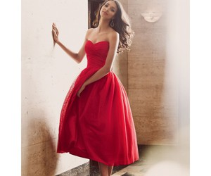 red tulle cocktail dress image