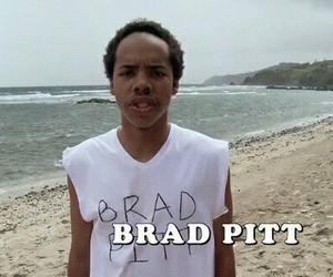 brad pitt, earl sweatshirt, and boy image
