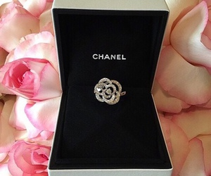 chanel, diamond, and ring image
