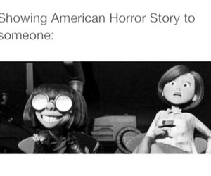 black&white, funny, and american horror story image