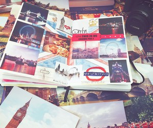 journal, london, and photos image