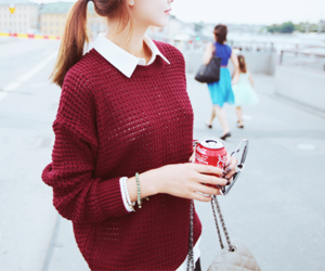 fashion, kfashion, and sweater image