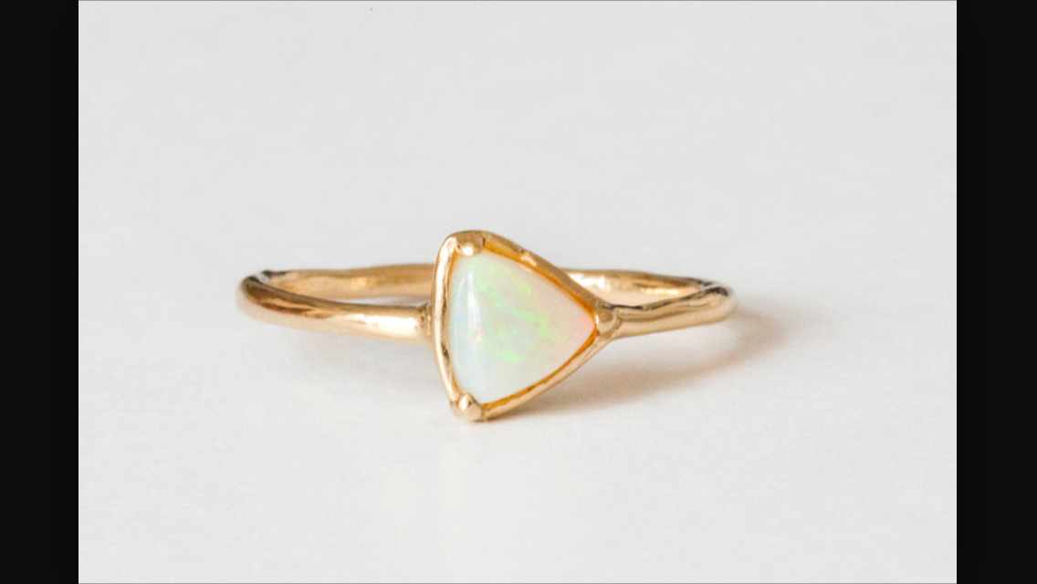 gold, jewelry, and opal image