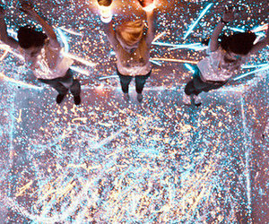 light, glitter, and party image