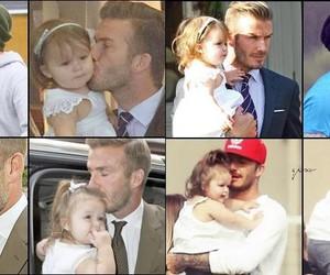 David Beckham, Father and Daughter, and harper beckham image