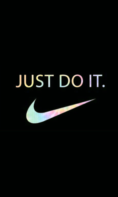 Nike Just Do It Icon Background Wallpaper Black