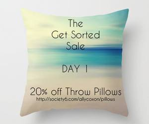 pillows, society6, and sale image