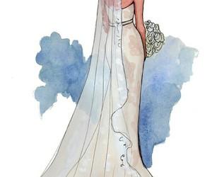wedding, art, and bride image