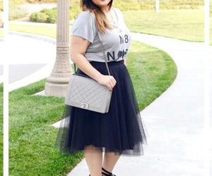 fashion, plus size fashion, and fatshion image