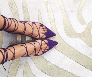 shoes, purple, and style image