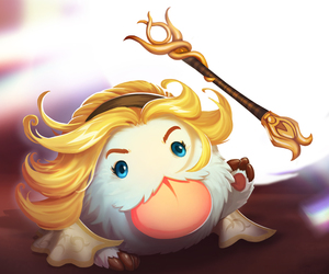 lux, league of legends, and poro image
