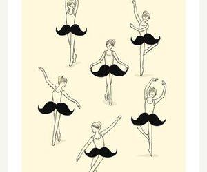 mustache, ballet, and moustache image