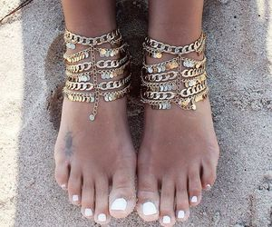 accessories, rings, and beach image