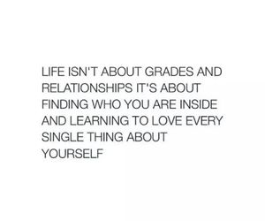 quote, life, and love yourself image