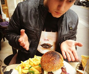 burger, flo, and food image