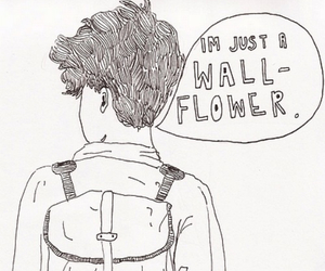 wallflower, boy, and drawing image