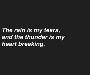 quotes, tears, and rain image