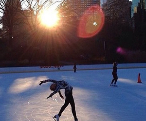 Central Park, Dream, and ice skating image