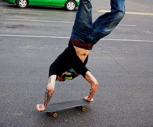 skate, boy, and tattoo image