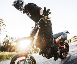 boy, ktm, and supermoto image