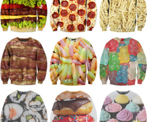 food, pizza, and sushi image