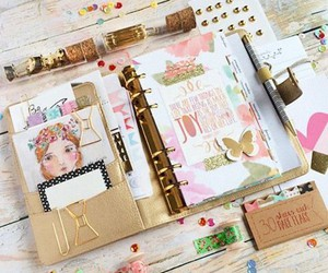 diary, girly, and note image