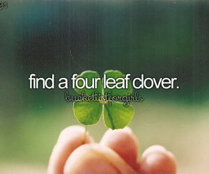 four leaf clover and bucket list image