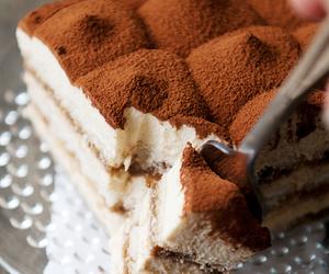 cake, food, and tiramisu image