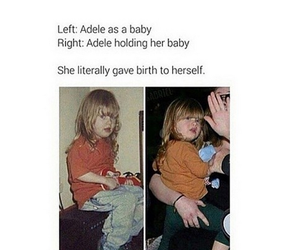 Adele, funny, and baby image