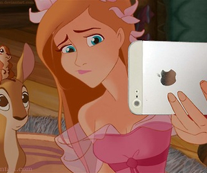 selfie, disney, and iphone image